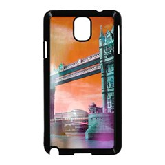 London Tower Bridge, Bokeh Orange Samsung Galaxy Note 3 Neo Hardshell Case (black) by MoreColorsinLife