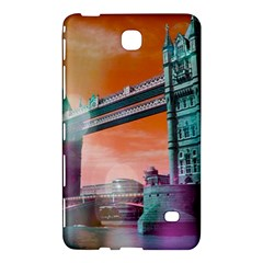 London Tower Bridge, Bokeh Orange Samsung Galaxy Tab 4 (8 ) Hardshell Case  by MoreColorsinLife