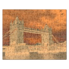 London Tower Bridge Special Effect Rectangular Jigsaw Puzzl by MoreColorsinLife