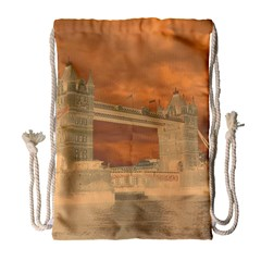 London Tower Bridge Special Effect Drawstring Bag (large) by MoreColorsinLife