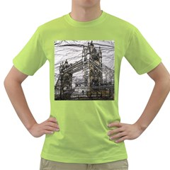Metal Art London Tower Bridge Green T Shirt