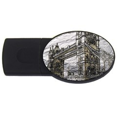 Metal Art London Tower Bridge Usb Flash Drive Oval (4 Gb)  by MoreColorsinLife
