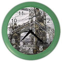 Metal Art London Tower Bridge Color Wall Clocks by MoreColorsinLife