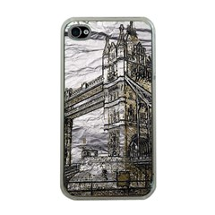 Metal Art London Tower Bridge Apple Iphone 4 Case (clear) by MoreColorsinLife