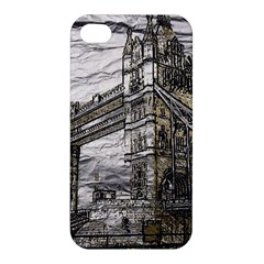 Metal Art London Tower Bridge Apple Iphone 4/4s Hardshell Case by MoreColorsinLife