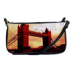 London Tower Bridge Red Shoulder Clutch Bags by MoreColorsinLife