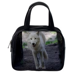 White Wolf Classic Handbags (one Side) by MoreColorsinLife