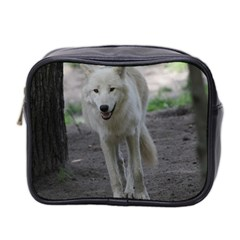 White Wolf Mini Toiletries Bag 2 Side by MoreColorsinLife