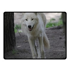 White Wolf Fleece Blanket (small) by MoreColorsinLife