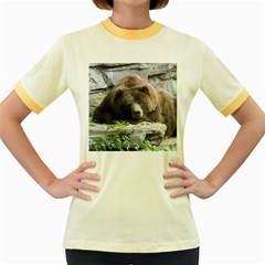 Tired Bear Women s Fitted Ringer T Shirts