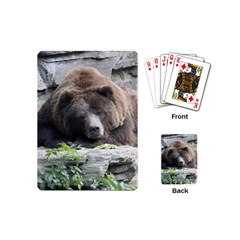 Tired Bear Playing Cards (mini)  by MoreColorsinLife