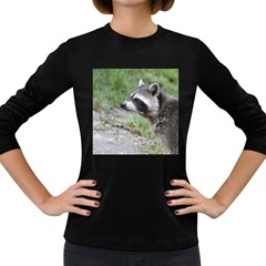 Racoon 1115 Women s Long Sleeve Dark T Shirts by MoreColorsinLife