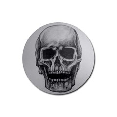 Skull Rubber Round Coaster (4 Pack)  by ArtByThree