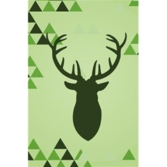 Modern Geometric Black And Green Christmas Deer 5 5  X 8 5  Notebooks by Dushan