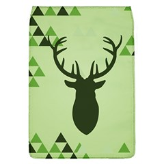 Modern Geometric Black And Green Christmas Deer Flap Covers (l)  by Dushan