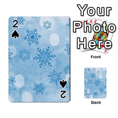 Winter Bokeh Blue Playing Cards 54 Designs  by MoreColorsinLife