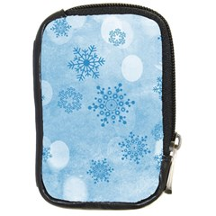 Winter Bokeh Blue Compact Camera Cases by MoreColorsinLife
