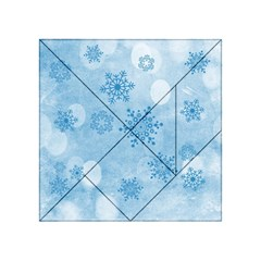 Winter Bokeh Blue Acrylic Tangram Puzzle (4  X 4 ) by MoreColorsinLife