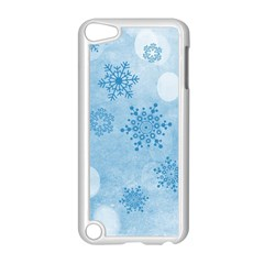 Winter Bokeh Blue Apple Ipod Touch 5 Case (white) by MoreColorsinLife