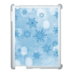 Winter Bokeh Blue Apple Ipad 3/4 Case (white) by MoreColorsinLife