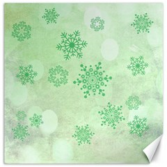 Winter Bokeh Green Canvas 16  X 16   by MoreColorsinLife