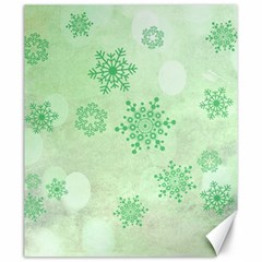 Winter Bokeh Green Canvas 20  X 24