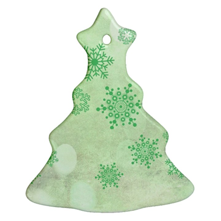 Winter Bokeh Green Ornament (Christmas Tree)