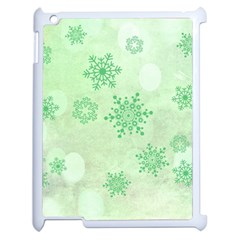 Winter Bokeh Green Apple Ipad 2 Case (white) by MoreColorsinLife