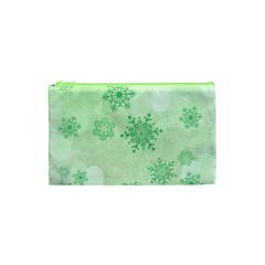 Winter Bokeh Green Cosmetic Bag (xs)