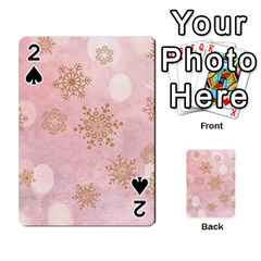 Winter Bokeh Pink Playing Cards 54 Designs