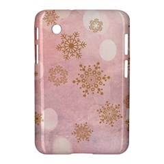 Winter Bokeh Pink Samsung Galaxy Tab 2 (7 ) P3100 Hardshell Case  by MoreColorsinLife