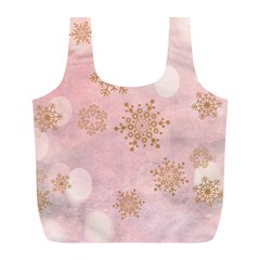 Winter Bokeh Pink Full Print Recycle Bags (l)