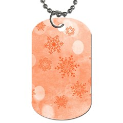 Winter Bokeh Red Dog Tag (one Side)