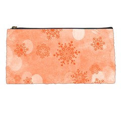 Winter Bokeh Red Pencil Cases