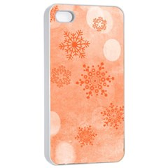 Winter Bokeh Red Apple Iphone 4/4s Seamless Case (white)