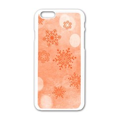 Winter Bokeh Red Apple Iphone 6/6s White Enamel Case by MoreColorsinLife