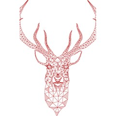 Modern Red Geometric Christmas Deer Illustration 5 5  X 8 5  Notebooks by Dushan