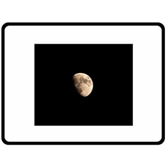 Half Moon Double Sided Fleece Blanket (large)  by timelessartoncanvas