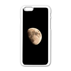 Half Moon Apple Iphone 6/6s White Enamel Case by timelessartoncanvas