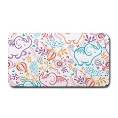 Cute Pastel Tones Elephant Pattern Medium Bar Mats by Dushan