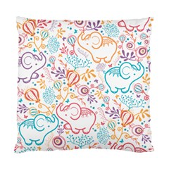 Cute Pastel Tones Elephant Pattern Standard Cushion Cases (two Sides)
