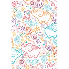 Cute Pastel Tones Elephant Pattern 5 5  X 8 5  Notebooks by Dushan