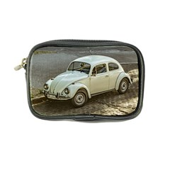 Classic Beetle Car Parked On Street Coin Purse by dflcprints