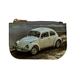 Classic Beetle Car Parked On Street Mini Coin Purses by dflcprints