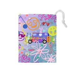 Summer Of Love   The 60s Drawstring Pouches (medium)