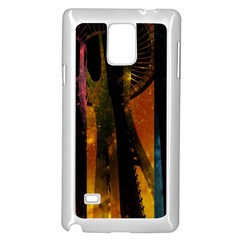 Colorful Space Needle Samsung Galaxy Note 4 Case (white) by stineshop