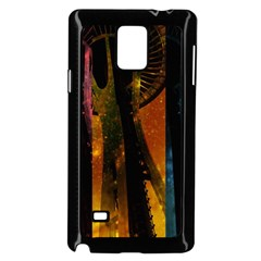 Colorful Space Needle Samsung Galaxy Note 4 Case (black) by stineshop