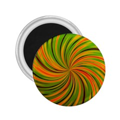 Happy Green Orange 2 25  Magnets