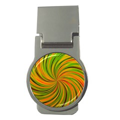 Happy Green Orange Money Clips (round)  by MoreColorsinLife