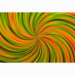 Happy Green Orange Collage 12  X 18  by MoreColorsinLife